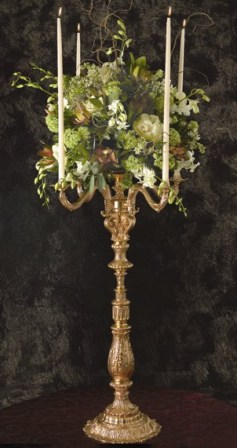 GC 50 BASE: 12 • HEIGHT : 40 Zinc Metal Gold Candelabra 4 Arms