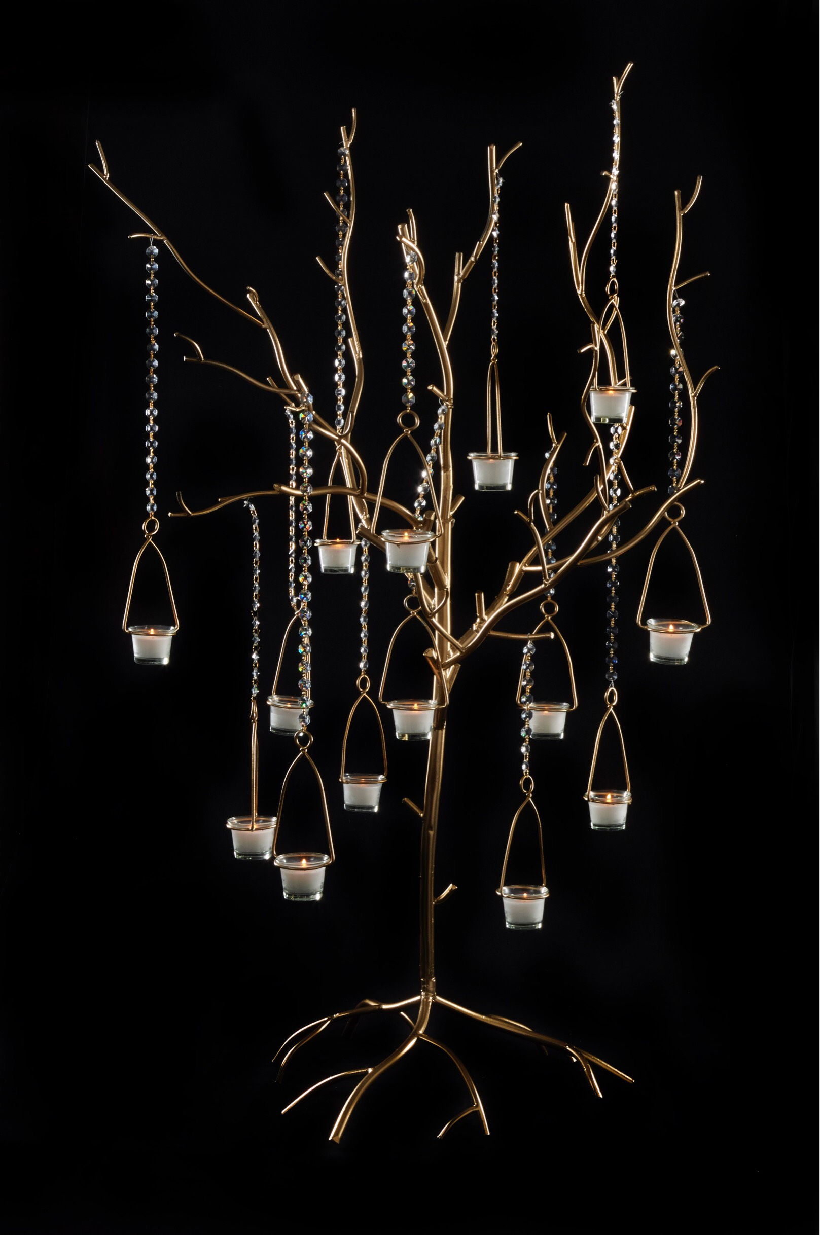 TB100 Timber Gold Tree Candelabra 20