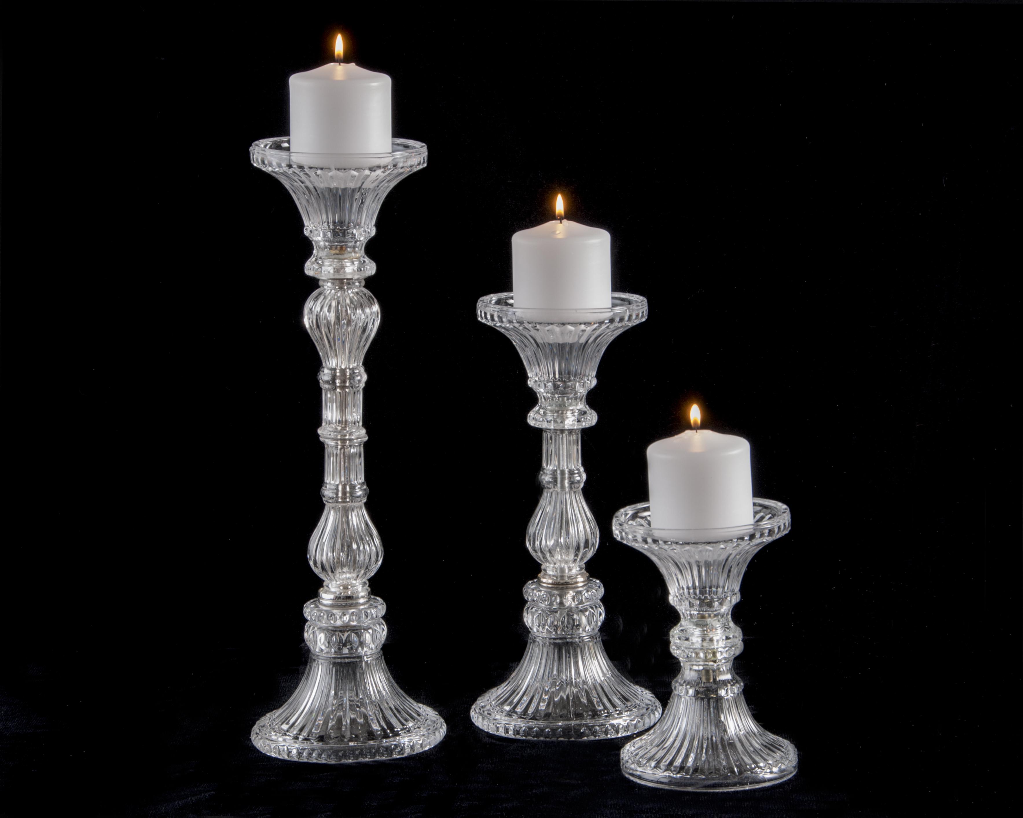 Lead crystal table lamp - Item Cs10 Crystal Candlesticks
