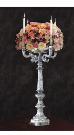 SC 47  BASE: 8 • HEIGHT : 27 Zinc Metal Candelabra