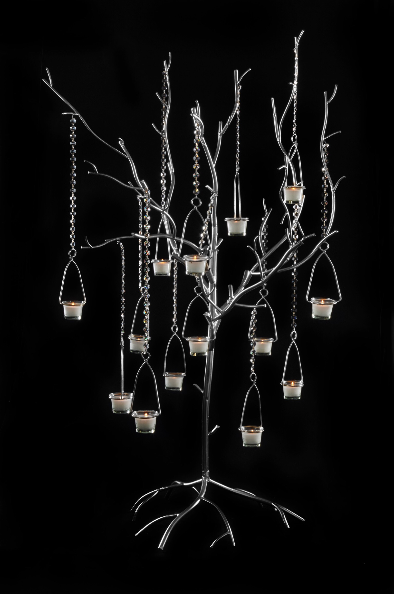 TB100 Timber Silver Tree Candelabra 20