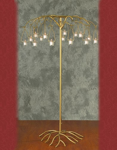 WS 92 BASE:29•HEIGHT:51   Iron  Aisle  Candelabra  12 Candles