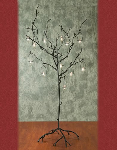 WS 83 BASE:24•HEIGHT:71 Iron Tree Aisle Candelabra 10  Candles