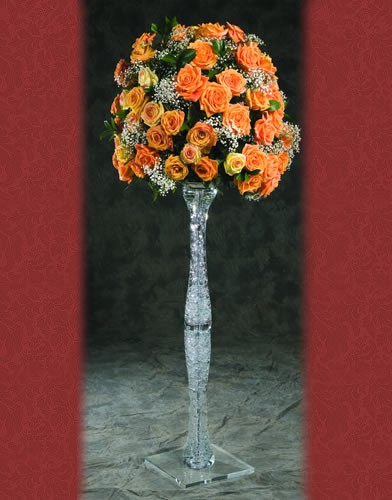 RI 300 BASE: 12• HEIGHT: 43 Aisle Crystal Flower Holder Stand