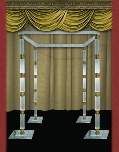 CC500  BASE:19•HEIGHT:82 Width:8x8 Crystal Columns With Bronze