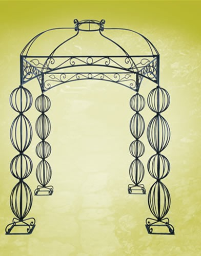 Chuppah 2 WIDTH:86HT:98 HEIGHT OF POLES:79 Iron Black Finish