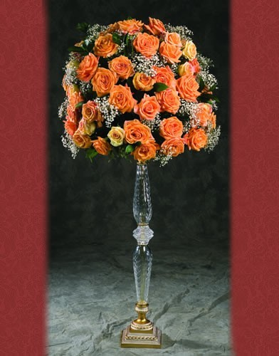 RC 55 RENT BASE:7•HEIGHT:34 Crystal Flower Holder