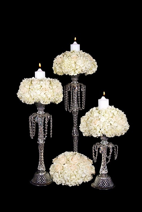DHC-25 Decorated crystal candlesticks - 32
