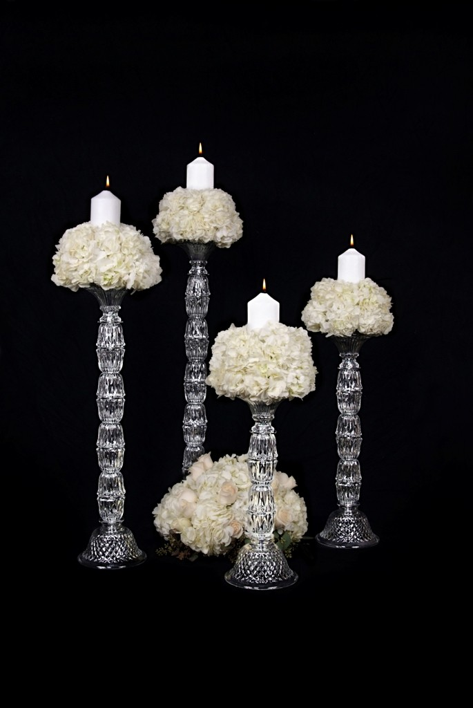ITEM MS100 Crystal candlesticks 20